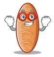 super hero baked bread character cartoon vector image
