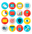 business analytics flat icons vector image vector image