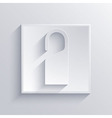 light square icon Eps 10 vector image vector image