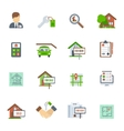 Real Estate Flat Icon vector image