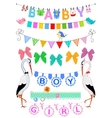 Set baby bunting vector image