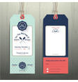 Nautical hanging tag wedding invitation and RSVP vector image