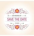 wedding floral badge vintage label for vector image