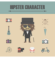 153old man hipster vector image