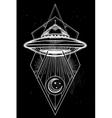 Alien geometric UFO Background vector image