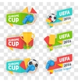 Collection of soccer cup badges vector image vector image