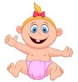 Baby girl cartoon vector image