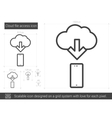 Cloud file access line icon vector image