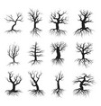dead tree flat style set vector image