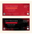 Gift Voucher Gift Certificate Black red triangle vector image