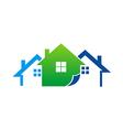 house realty construction logo vector image