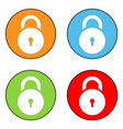 Lock symbol buttons set vector image