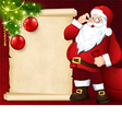 Santa Claus with the card vector image