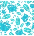 Seamless Watercolor Pattern with Birds and vector image