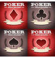 Set of Poker Backgrounds vector image