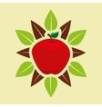 vegetarian product healthy food vector image vector image