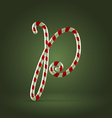 Candy cane abc p vector