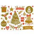 Christmas sketchy set vector image