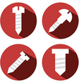 4 screws vector image