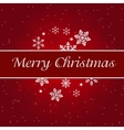 Abstract colorful red christmas background vector image