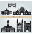 Cambridge landmarks and monuments vector image