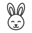 easter rabbit line icon easter and holiday vector image