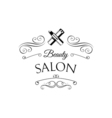 Lipstick Beauty Salon Design Elements in Vintage vector image