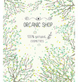 Organic shop template for natural products - vector image
