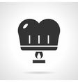 Romantic paper lantern black design icon vector image