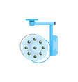 surgical lamp in operation room medical equipment vector image