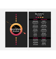 Menu cafe restaurant template placemat Food board vector image