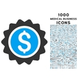 Banking Stamp Icon with 1000 Medical Business vector image