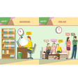 Digital company accounting and time out vector image vector image