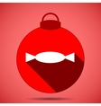 Christmas icon with the silhouette of candy vector image
