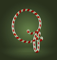 Candy cane abc q vector