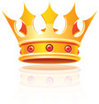 gold royal crown vector image vector image