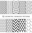 Seamless Geometric Pattern Set Ten Tiled vector image vector image
