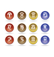 zodiac signs glossy icons vector image vector image