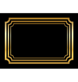 Gold frame Beautiful simple style vector image