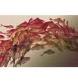 koi fish in natural elegant color vector image