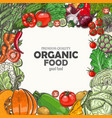 background with colored vegetables vector image