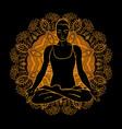 beautiful woman doing yoga meditation vector image