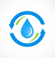 clean water process abstract logo vector image