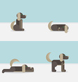 Dog in 4 positions vector image