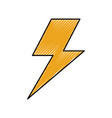electric lightning bolt with shading effects vector image