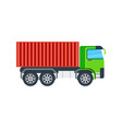 freight truck isolated icon vector image