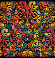 funky seamless pattern vector image