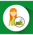 girl concept ecological factory vector image
