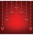 glass hearts vector image