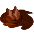 Melting chocolate bars Chocolate cream and sticks vector image